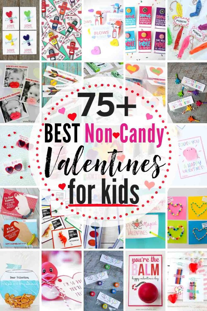 80 BEST *Non-Candy* Valentine Options for Kids (and they're ALL Free Printables, too)!! If your school has a no-candy rule for their valentines parties this year, then here is the inspiration & Ideas you need! #valentinesforkids #freeprintablevalentinesforkids #noncandyvalentineideas #nocandyvalentines #noncandyvalentines #freeprintables #printablevalentines #valentinesforkids #valentineideasforkids #valentineideasforkidsschools #valentineideasforkidsnoncandy