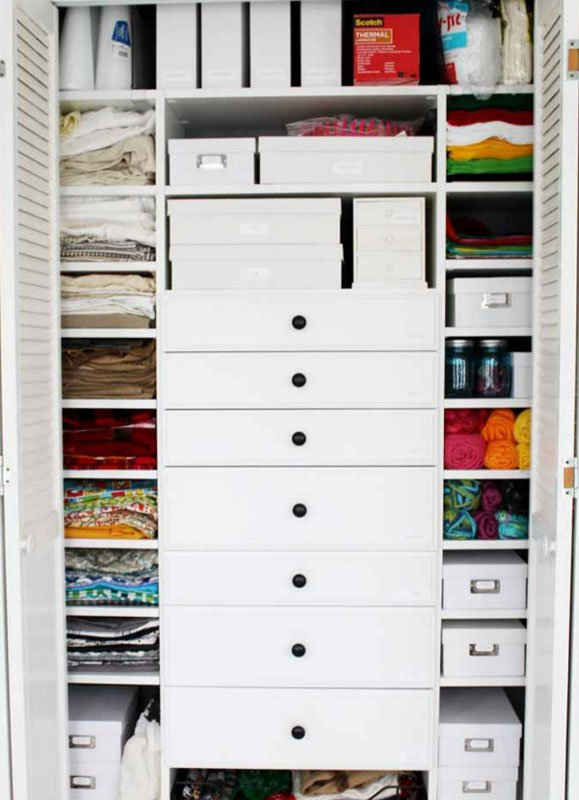 Closet Organizer Ideas: A place for everything and everything in its place. Small shelves work great for small items