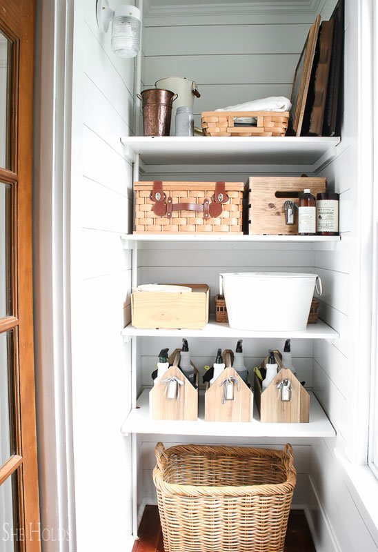 Closet Organizer Ideas: Proving that your cleaning closet need not be unattractive!
