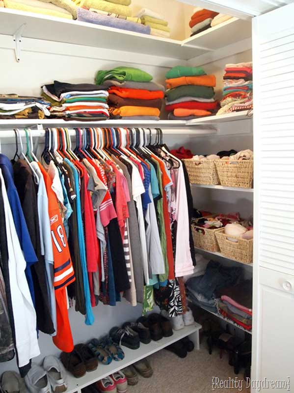 Closet Storage Ideas: DIY custom closet shelving to fit your closet's specific goals and needs