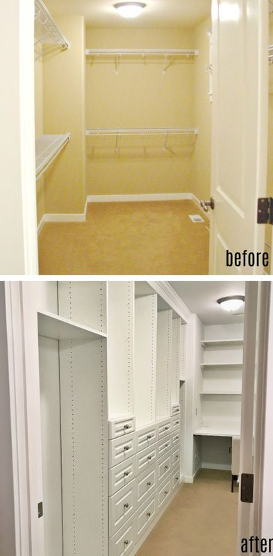 Closet Organization Tips: A good wood closet organizer system is a stylish upgrade for a walk in closet.