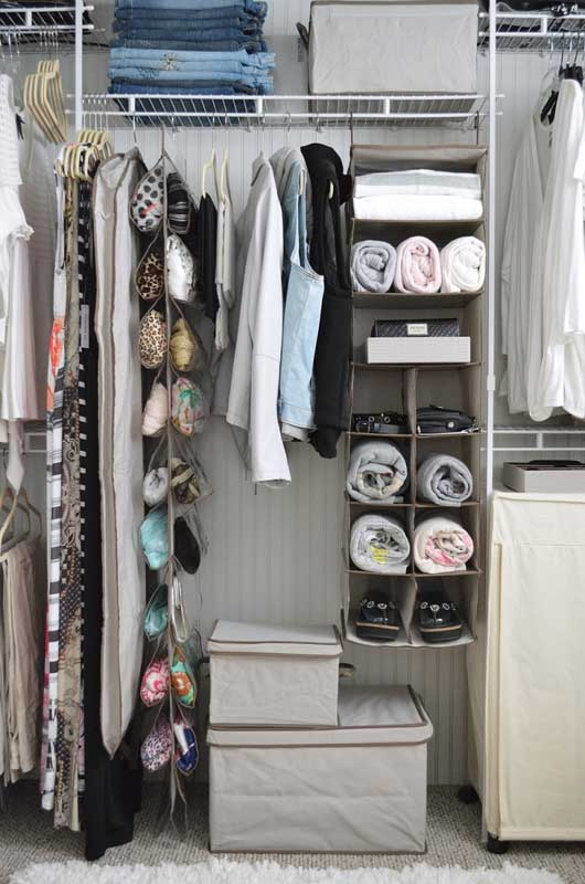 Closet Organization Tips: There are storage accessories for almost everything, and they don't have to be expensive. Use the proper tools to maximize your closet organization.