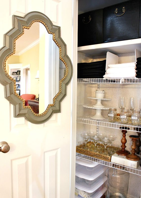 Closet Organizer Ideas: Designate a closet for all those seldom used entertaining items