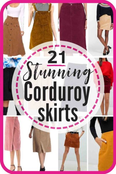 21 favorite corduroy skirts for women and girls! Corduroy is a classic, and these skirts are hotter than ever! #corduroy #corduroyskirt #corduroyskirts #corduroyskirtoutfit #corduroyskirtwithtights #pinkcorduroyskirt #wintercorduroyskirt #springcorduroyskirt #midicorduroyskirt #browncorduroyskirt #corduroyskirtwithboots #kneelengthcorduroyskirt #kidscorduroyskirt
