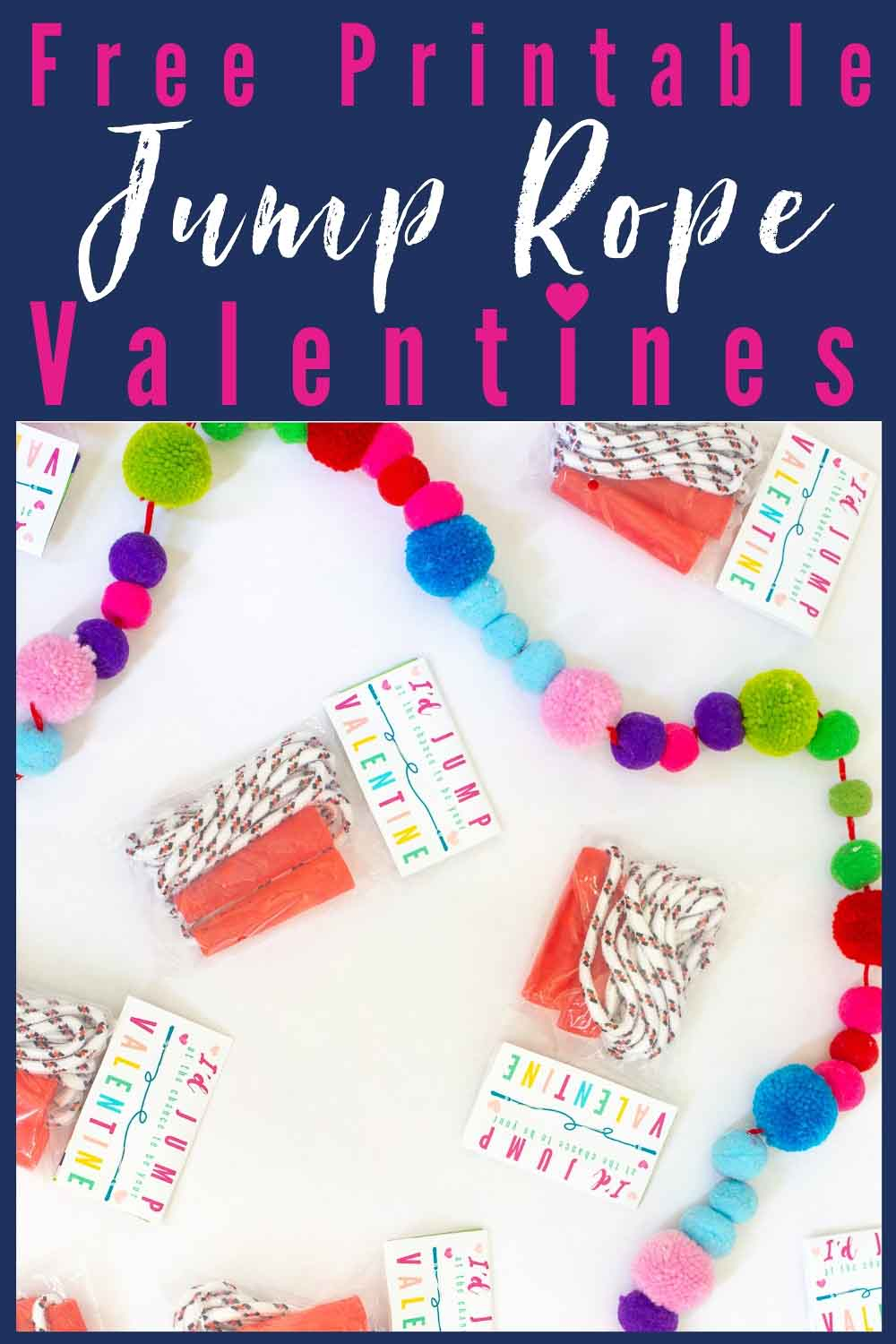 Jump Rope Free Printable Valentines for Kids! A fun option for candy-free kids valentine parties at school!