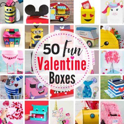 50+ CUTEST Valentine Box Ideas with Tutorials! #ValentineBoxes #ValentineBoxIdeas #DIYValentineBox #DIYValentineBoxIdeas #valentineboxesforboys #valentineboxesforgirls #valentineboxesforschool #howtomakeavalentinebox #easyvalentineboxes #cutevalentineboxes #valentineboxesforkids