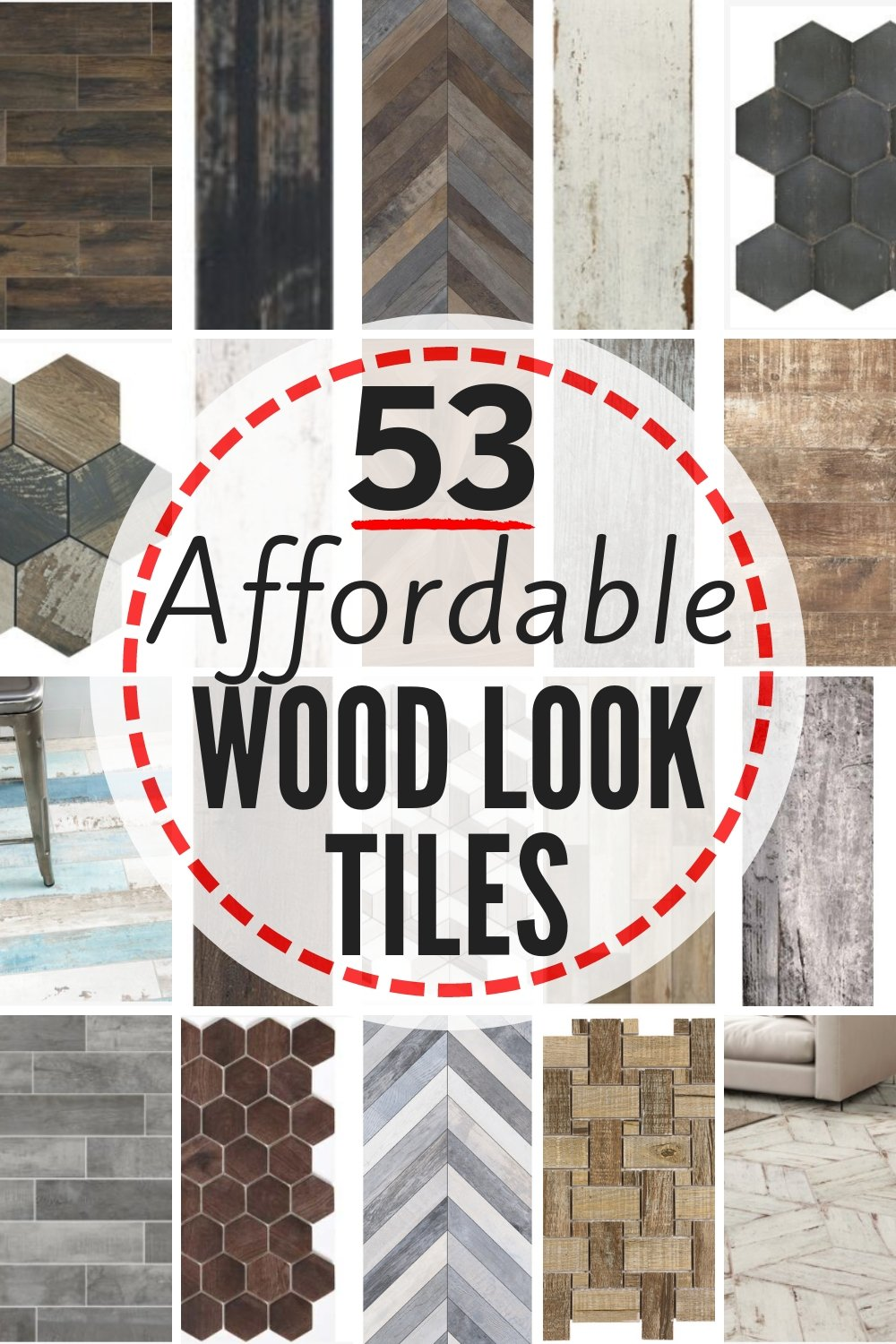 53 affordable and gorgeous faux wood tile options. Plus, how to know if porcelain or ceramic wood grain tile is the right type of flooring or tile for you in your own home. Full review/all you need to know about wood look tile in one spot. #woodtile #woodlooktile #fauxwoodtile #porcelainorceramictile #tilereview #flooring #tile #tilefloor #tileshowerideas #bathroomtile #woodlooktilefloor #porcelainwoodtile #ceramicwoodtile #woodtileflooring