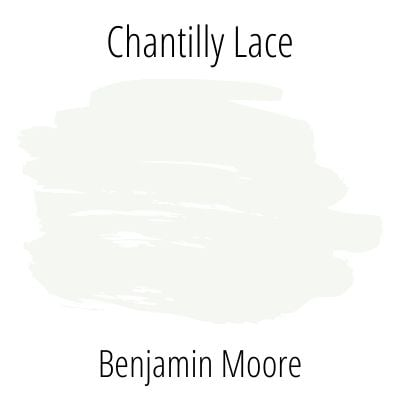 Benjamin Moore Chantilly Lace Paint Color Swatch