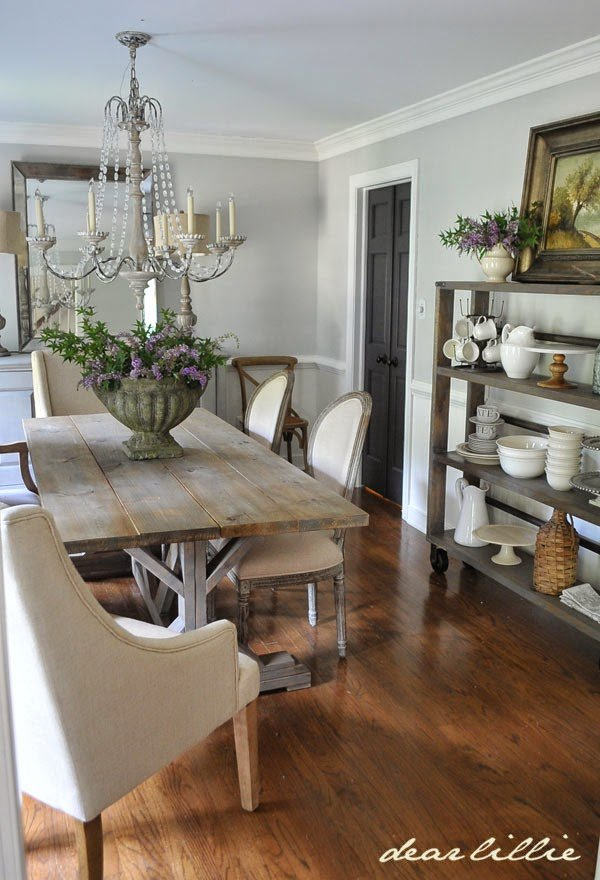 Dear Lillie Dining Room with Gray Owl Benjamin Moore paint