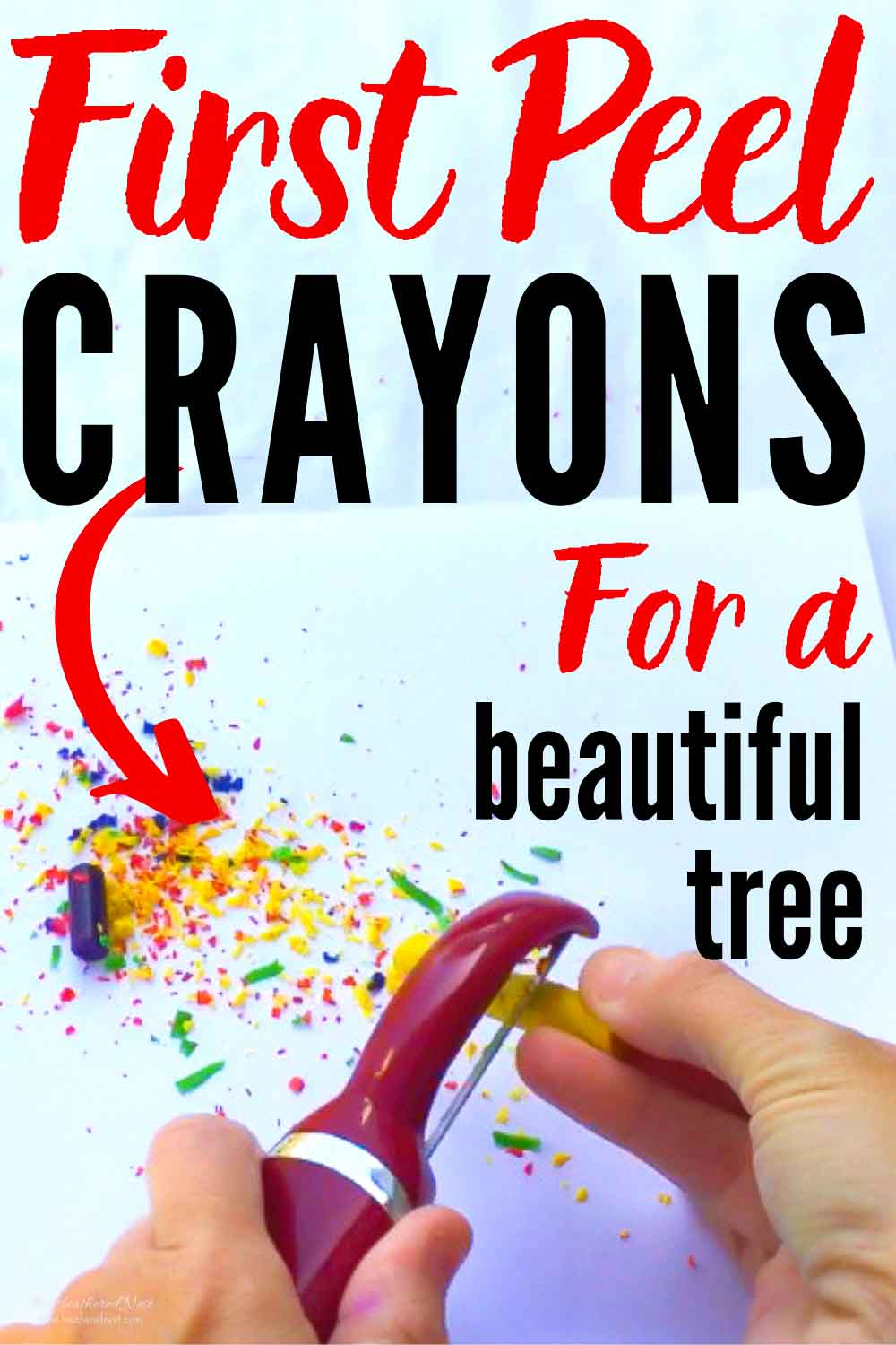 Easy, Colorful DIY Christmas Ornament Idea From Old Crayons
