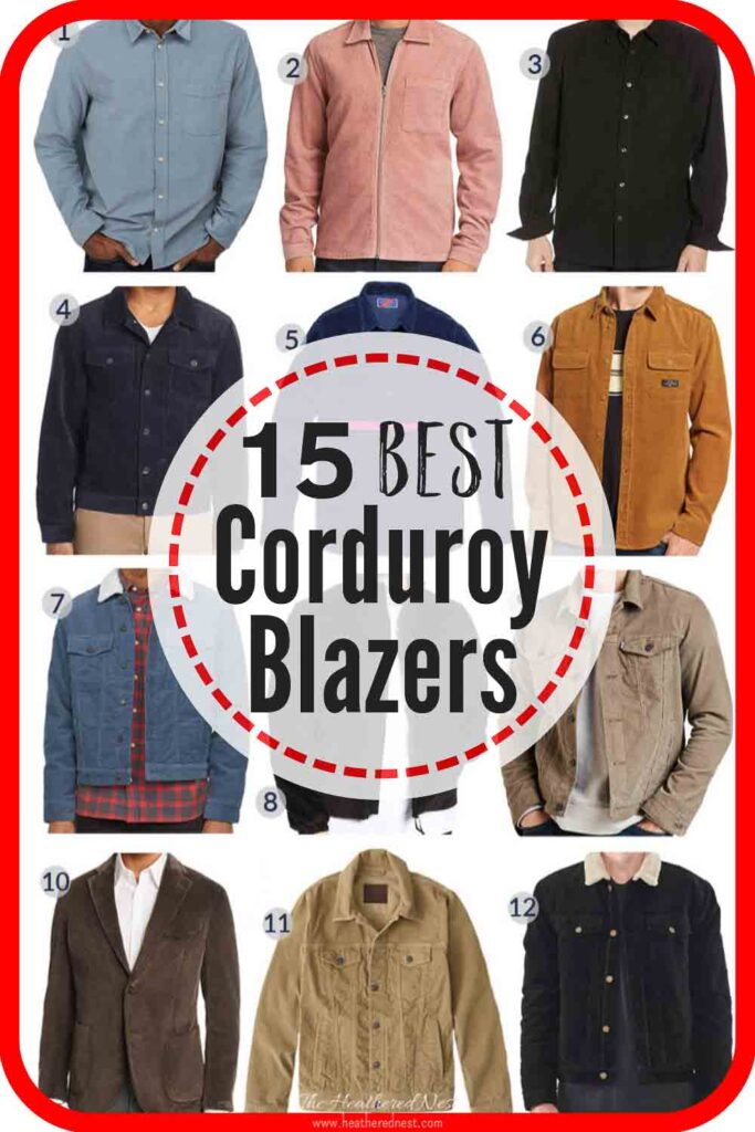 15 best men's corduroy jackets! Corduroy blazers are very popular right now. So here are the best looking, all in one spot! #corduroy #corduroyjacket #corduroyblazer #mensjackets #mensblazers #corduroyjacket