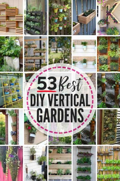 53 BEST 🌱DIY Vertical Garden Designs! Regardless of how much space or DIY know how you have or don't have, there is a vertical gardening idea here for everyone! From free-standing vertical planters to green walls built on fences, living walls are a gorgeous and smart way to garden! #DIY #garden #gardening #verticalgarden #greenwall #livingwall #verticalgardening #DIYverticalgarden #verticalgardenvegetable #verticalgardenherb #verticalgardenwall #verticalgardenpallet #verticalgardenideas