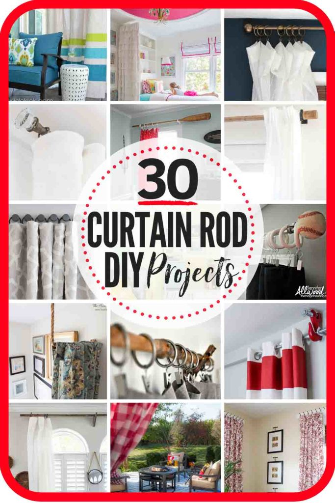 30 BEST DIY Curtain Rod Ideas