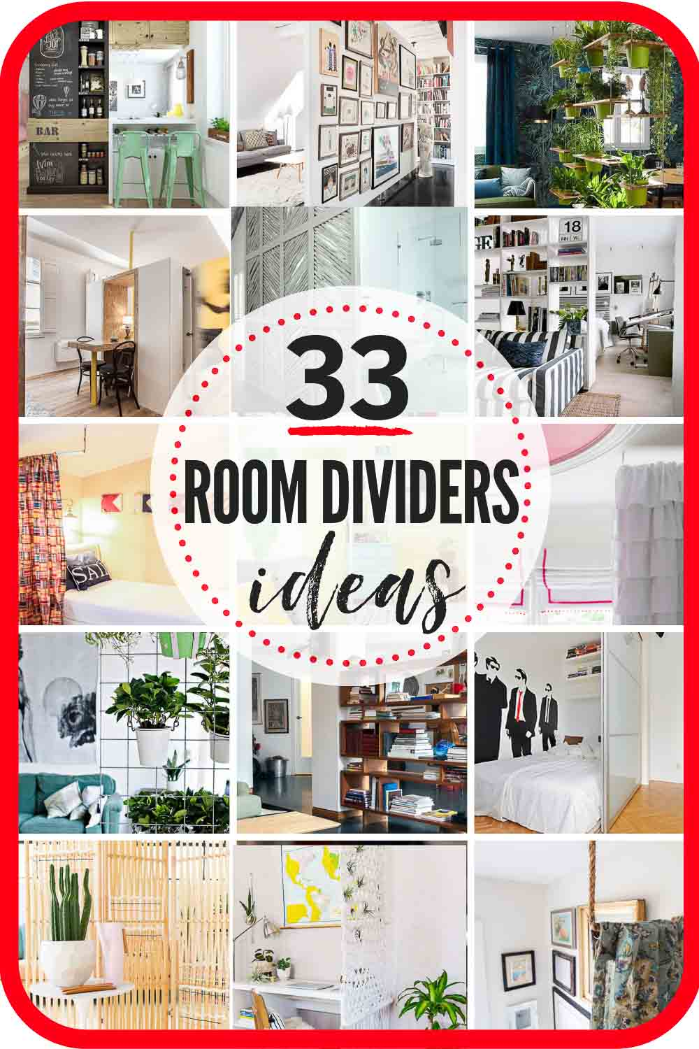 33 Rad Room Divider Ideas The Heathered Nest