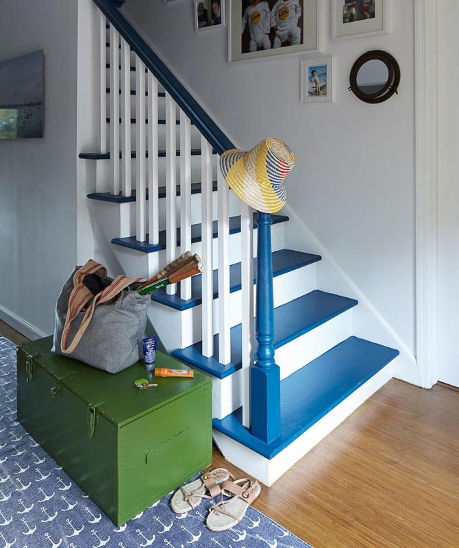 45 DIY PAINTED STAIRS projects that are SPECTACULAR! | Emily Henderson