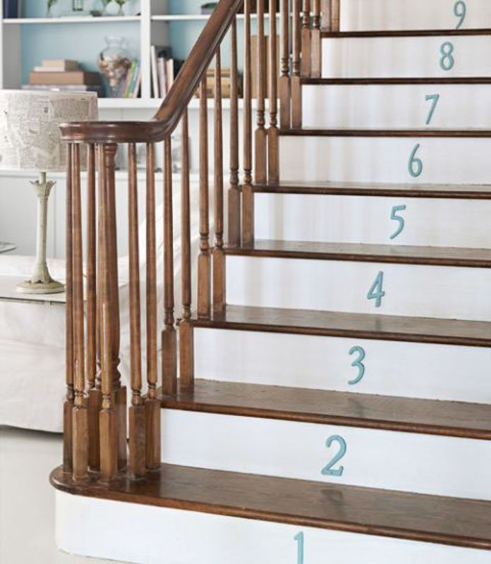 45 DIY PAINTED STAIRS projects that are SPECTACULAR!