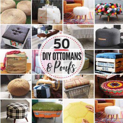 50 AMAZING & budget-friendly DIY Ottoman & DIY Pouf Ideas!