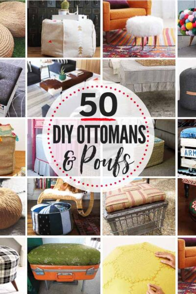 50 AMAZING & budget-friendly DIY Ottoman & DIY Pouf Ideas!