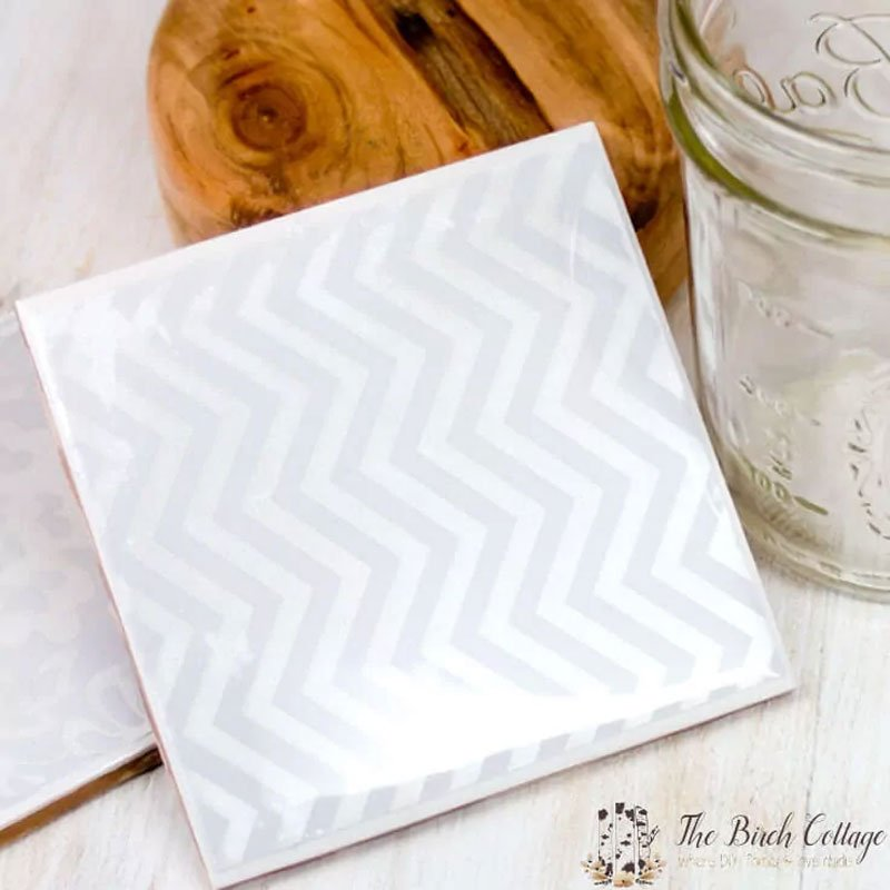Ceramic tile DIY coaster ideas