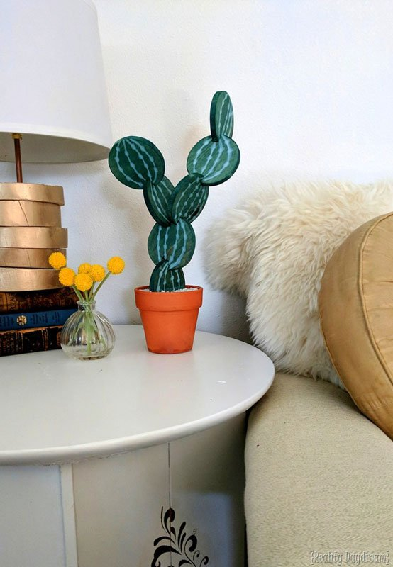 Amazing DIY stacked cactus DIY coasters