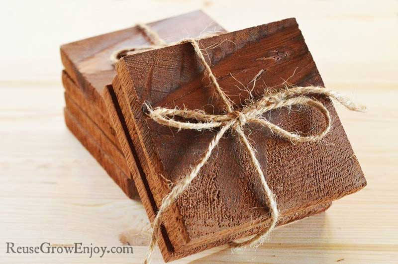 Cedar DIY wood coasters