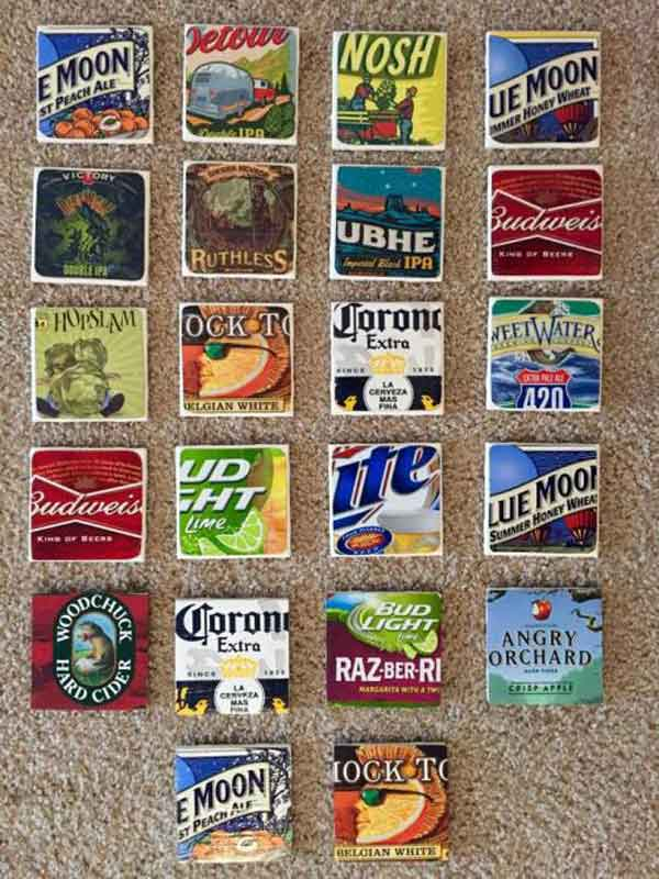 perfect DIY coaster set for the beer lover in your life!