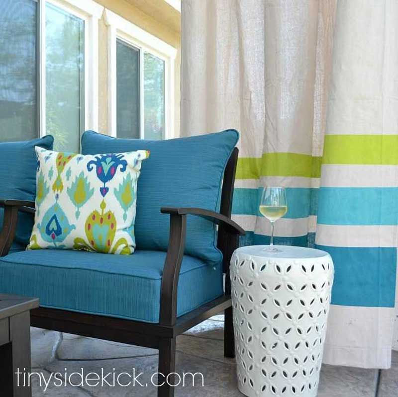 DIY Curtain Rods | making inexpensive outdoor curtains and rods via hey there home