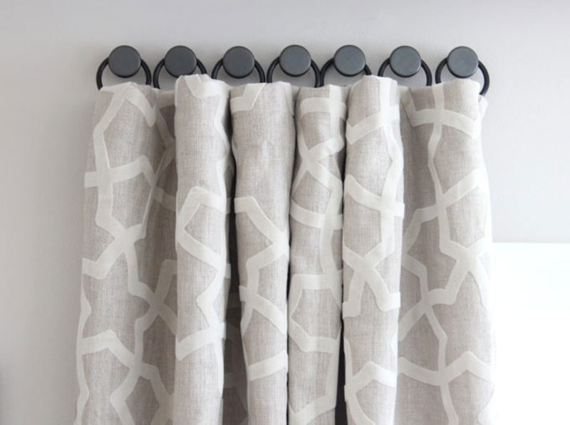 DIY Curtain Rods | making DIY curtain rods for tricky windows via Shine DIY and Design