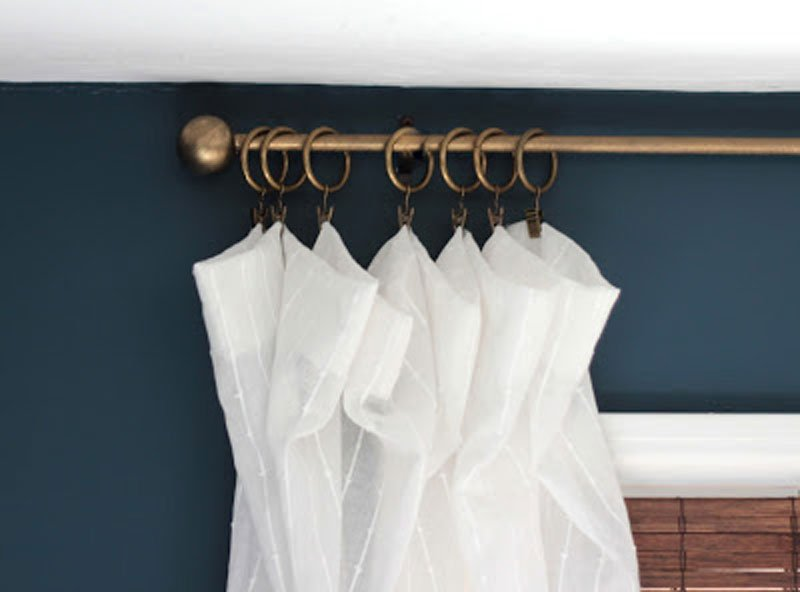 DIY Curtain Rods | with ping pong ball finials via Shine DIY and Design