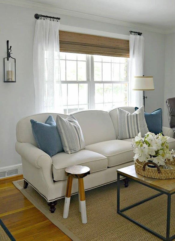 DIY Curtain Rods | Short rods from pipe via Chatfield Court