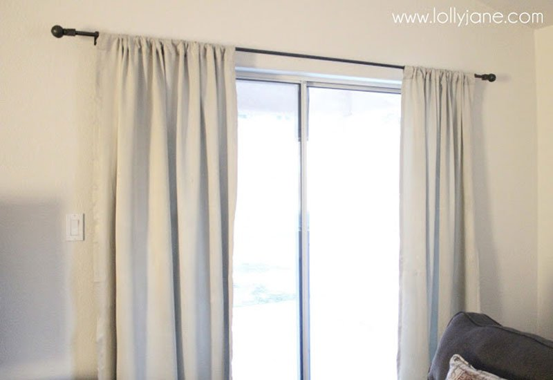 DIY Curtain Rods | DIY curtain rods with clay DIY finials via Lolly Jane