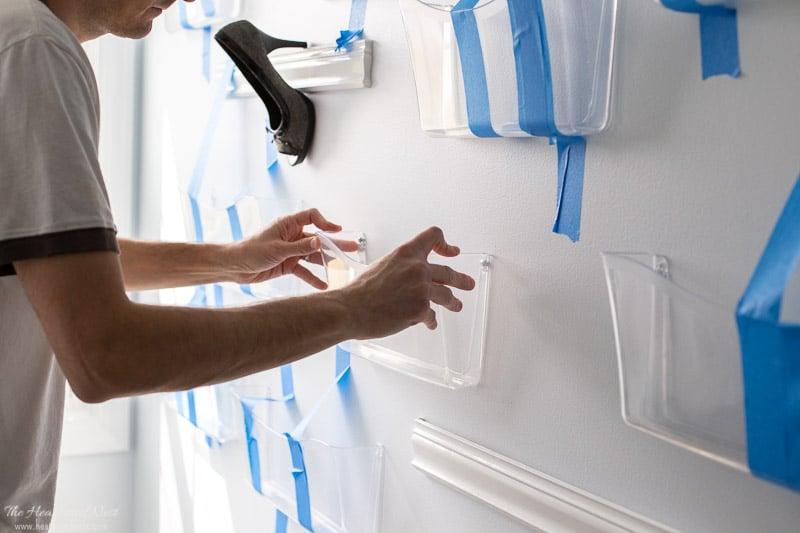 Easy DIY purse organizer | mounting wall pockets