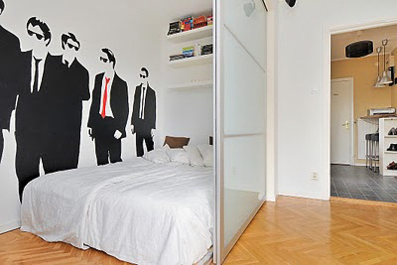 30+ Amazing Room Divider Ideas | IKEA Hackers Pax Door Room Divider Idea