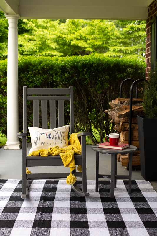 POLYWOOD furniture front porch makeover |