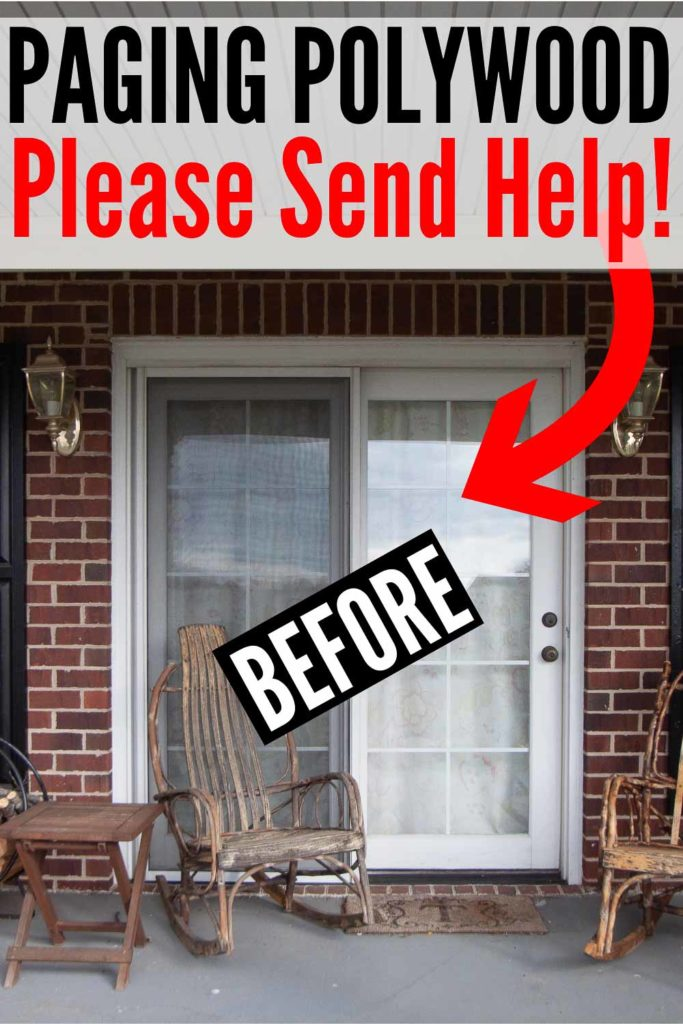 POLYWOOD furniture front porch makeover | AFTER with POLYWOOD Plantation Rocker Set