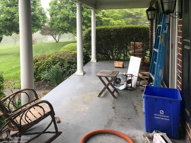 POLYWOOD furniture front porch makeover | BEFORE shot