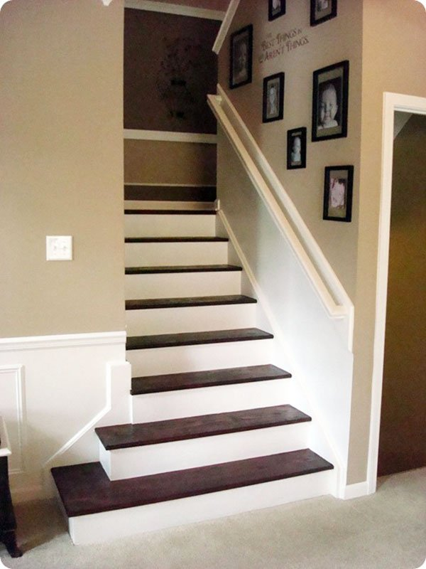 DIY stained stairs | thrifty decor chick