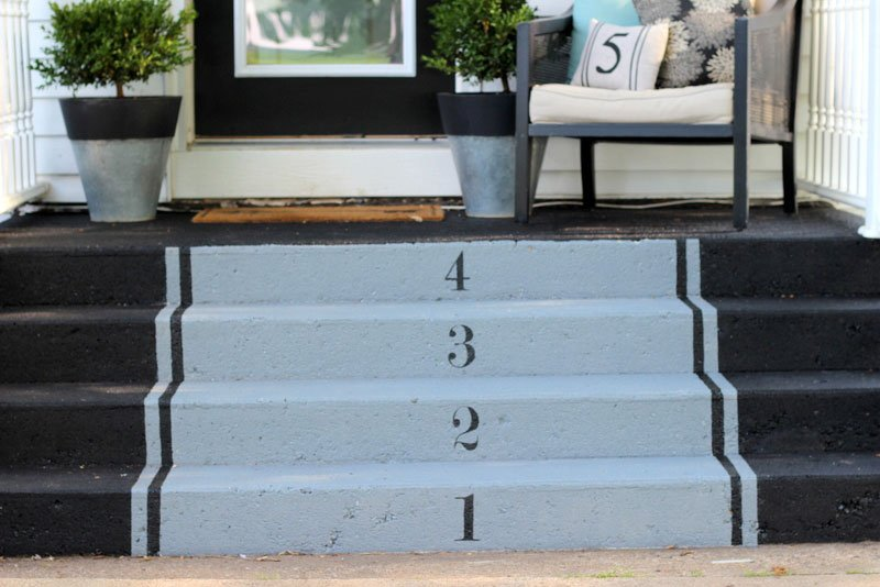 Concrete DIY painted stairs | proverbs 31 girl