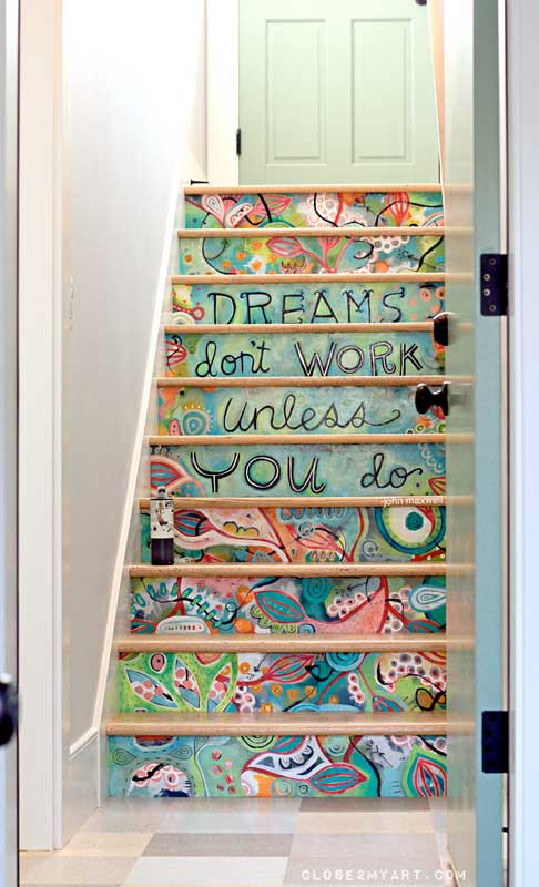 motivational staircase | allen design studio