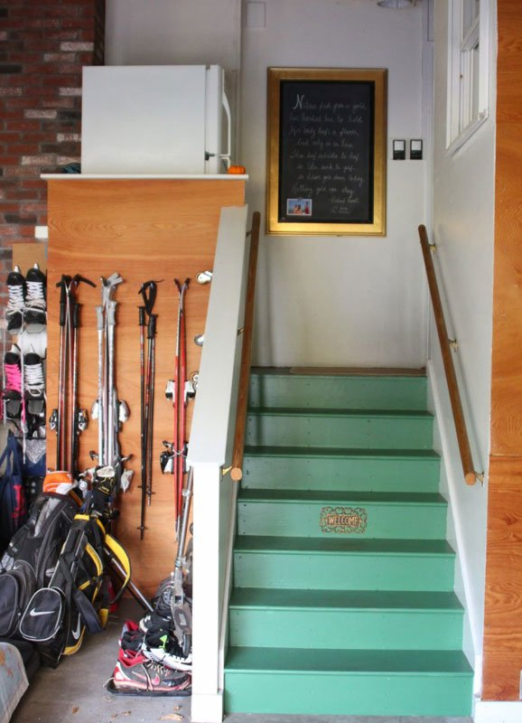 DIY painted garage staircase | shine your light blog