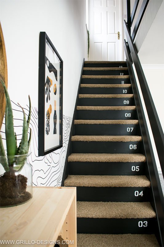painted risers with numbers | Grillo Designs