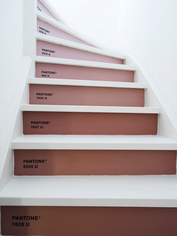 Pantone Painted Stairs | Marly Gommans