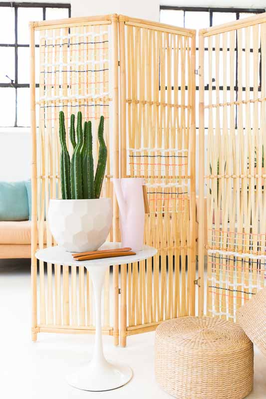 30+ Amazing Room Divider Ideas | Sugar and Cloth Rattan Room Divider
