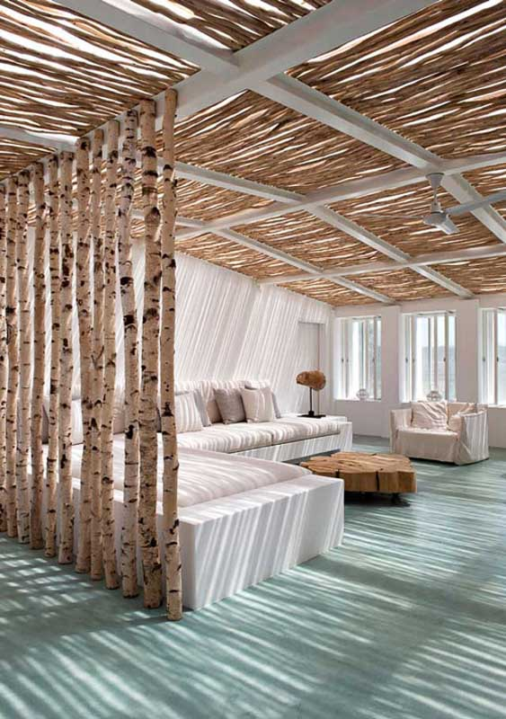 30+ Amazing Room Divider Ideas | Birch Tree room divider Style Files