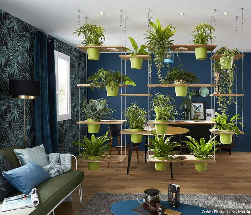30+ Amazing Room Divider Ideas | Detentejardin.com Living wall/green plant vertical interior garden divider idea