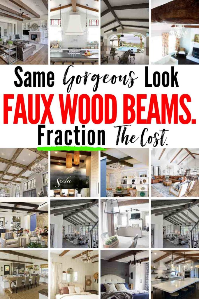 FAUX WOOD BEAMS! Same Gorgeous Look, for a FRACTION the price! Here are 30+ examples of how once you realize how amazing these faux beam products are, you'll FAUX-get about paying $$$ for real!