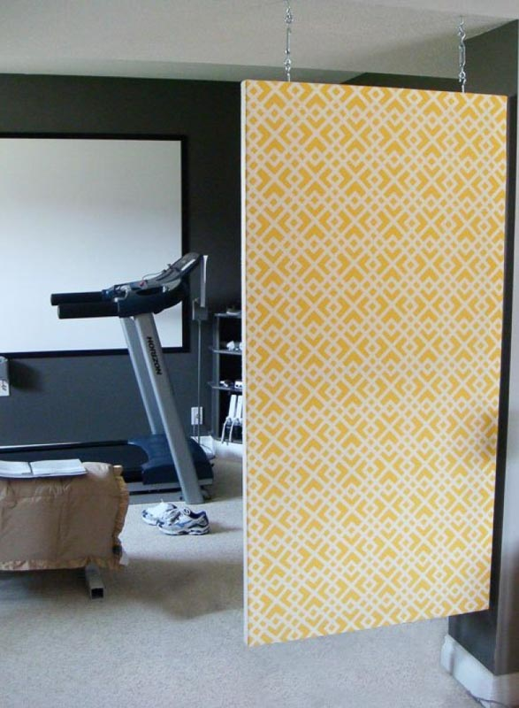 30+ Amazing Room Divider Ideas | fabric covered canvas room divider fresh crush