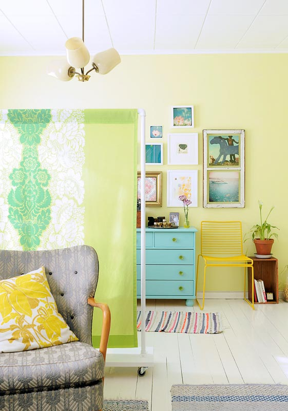 30+ Amazing Room Divider Ideas | PVC and fabric DIY screen kootumurut.com