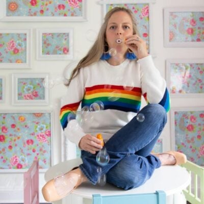 You can't be sad when you're wearing a rainbow! Retro 1980s rainbow-chic fashion is back!