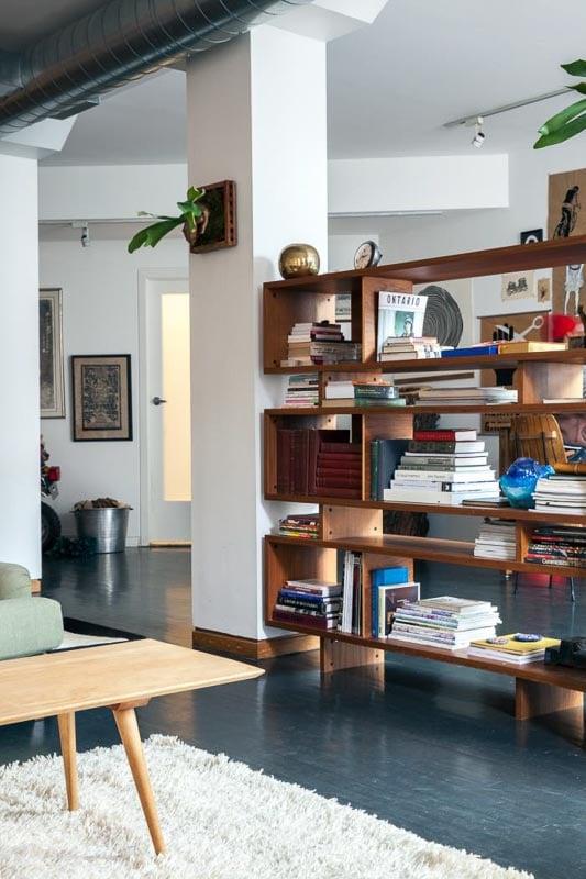 30+ Amazing Room Divider Ideas | Hip Mid-Century Modern Bookshelf room divider Remodelista